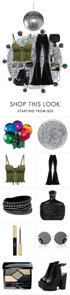 """""""Disco"""" by nvrthewriter ❤ liked on Polyvore featuring Smith & Cult, Puma, Faith Connexion, Swarovski, John Varvatos, Yves Saint Laurent, Karen Walker, Christian Dior and Nine West"""