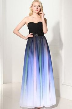 AHP293 New Arrival A-Line Sweetheart Ombre Charming Prom Dresses 2017