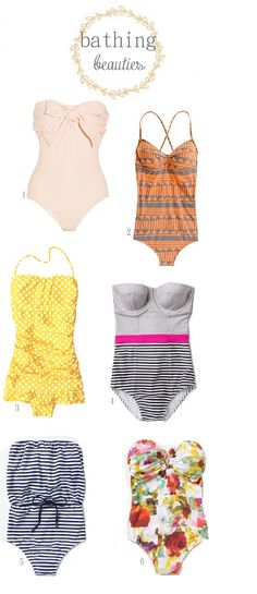 Cute, modest one piece swimsuits!