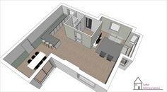 3D ontwerp voor woning in Zutphen. Voor deze nieuwbouwwoning heb ik indelingsadvies gegeven.