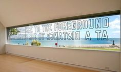 Lawrence Weiner: At a Distance to the Foreground