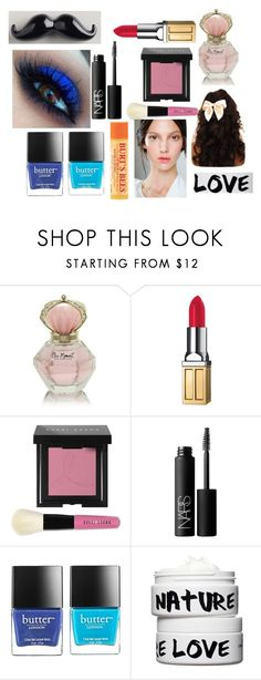 """""""Makeup"""" by taytay9502 ❤ liked on Polyvore featuring beauty, Elizabeth Arden, Bobbi Brown Cosmetics, NARS Cosmetics, Burt's Bees, Butter London, Nature Girl and Cost Plus World Market"""