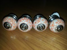 4 M&S Ceramic Vintage Style Door Knobs Pulls Drawer Cupboard Handles Shabby Chic