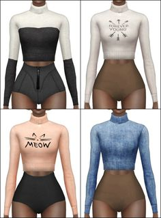 Turtleneck sweater retexture at Hallow Sims via Sims 4 Updates