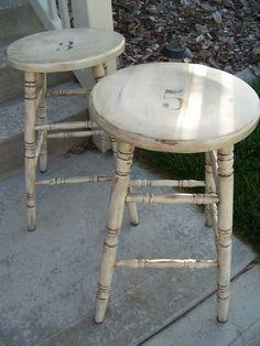 http://thepaintedcupboard.blogspot.com/2010/06/bar-stool-re-do.html