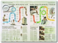 This is a good example of a newspaper layout because it is two separate pages, but it is connected and makes the reader what to find out what is on the page. I like the the look these two pages have mainly because of the creativity and spacing.