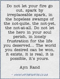Believe it....Ayn Rand