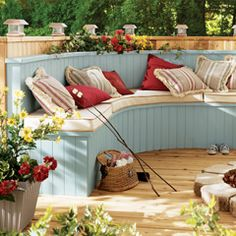 Love the outdoor benches