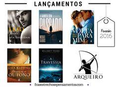 Lançamentos Editora Arqueiro - Fevereiro 2016