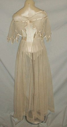 1820's Sheer Summer Dress