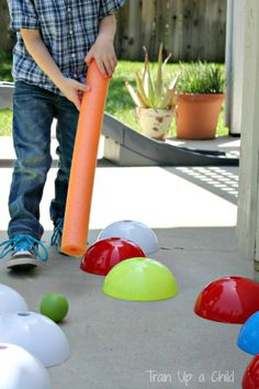 Great resource for some very fun and creative uses for pool noodles as well as small and large motor activities in general!