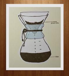 A Chemex Companion Coffee Letterpress Print by Nane Press on Scoutmob Shoppe