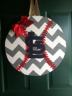St. Louis Cardinals Door Hanger by BootsiesBowtique on Etsy, $30.00