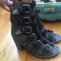 Jeffrey Campbell kg west buckle boots size 8 Like new hardly worn Jeffrey Campbell Shoes