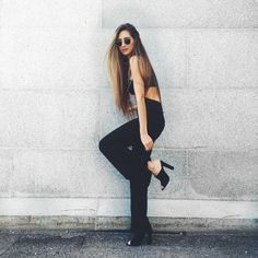 Street stylin'... the @nastygal way. #NastyGalsDoItBetter || Shop now: http://www.nastygal.com/clothes-rompers-jumpsuits/nasty-gal-dark-side-cutout-jumpsuit?utm_source=pinterest&utm_medium=smm&utm_term=stylechat_style&utm_campaign=ngdib