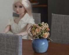 Miniature flower bouquet in 1:6 scale for Barbie-, Blythe-, Fashion Royalty-, Momoko-, Pullip-, Tonner- dolls etc.