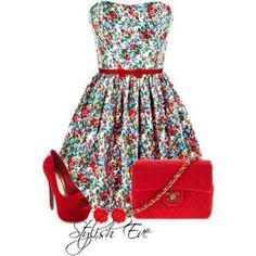 Waiting for summer.  Cute summer dress