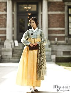MYWEDDING 황희 우리옷 드레스 전통과 현대를 아우르다
