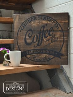 Custom Coffee Company Sign - Customize This Sign With Your Name or Company - Coffee Shop Sign - Industrial Sign - pinned by pin4etsy.com