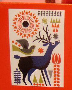From The Great British Card Company, these magical robin and deer prints form the backdrop for these charity Christmas cards. With two different designs to choose from, these cards are perfect to give to your loved ones this Christmas. Goat Logo, Charity Christmas Cards, Scandinavian Folk Art, Silk Screen Printing, Textile Printing, Christmas Drawing, Naive Art, Illustration, Graphic Design Typography