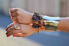 these would go beautifully with the rest of the range. especially the chunky gold bracelet. The bracelets in the collection reminds me of Egyptians, quite ancient, but each one is a fashion statement in its own right and can complete the entire outfit.