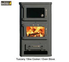 Tuscani Oven Cooker Stove - Wood Burning and Multi fuel - 15kw Maximum Output