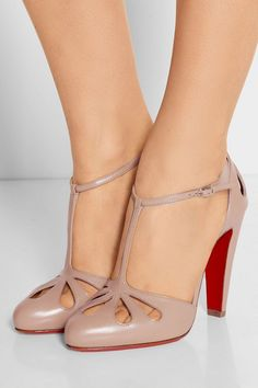 Christian Louboutin | Amyada 100 leather T-bar pumps | NET-A-PORTER.COM