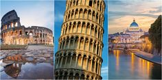 Italy is home to some of the most recognizable icons in the world: the Leaning Tower of Pisa, Colosseum & St. Peter's Basilica. Make sure you grab your camera so you can capture these and many other remarkable sights! Holland America Line, Cruise Destinations, Pisa, Travelling, Travel Tips, Tower, Europe, Icons, Italy