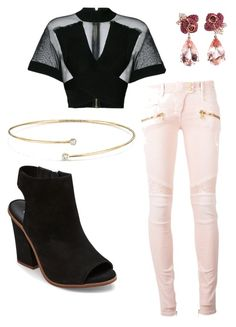 """""""Kill of the night"""" by avalee-kelley on Polyvore featuring Balmain, Steve Madden, Anyallerie and Elsa Peretti"""