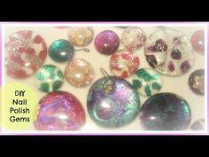 DIY: Glitter/Nail Polish Magnets ♡ Theeasydiy #LockerDecor - YouTube