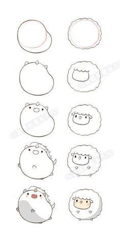 How to draw kawaii llama drawing unicorn and lamb a how do you draw kawaii cat . how to draw kawaii Cute Easy Drawings, Cute Animal Drawings, Kawaii Drawings, Doodle Drawings, Doodle Art, Drawing Sketches, Drawing Ideas, Drawing Tips, Drawing Animals