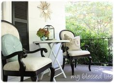 Bamboo Porch Table Makeover — My Blessed Life™