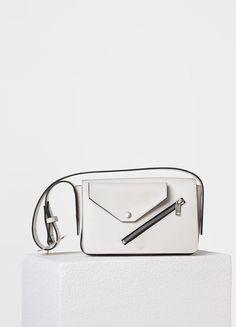 Medium Case Biker Shoulder Bag in Natural Calfskin - Céline
