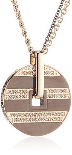 Emporio Armani Damen Halskette Edelstahl Swarovski-Kristall 43 cm apricot EGS1587200