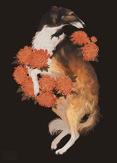 "norapotwora: "" Pet poster ordered by Chocosart, her friends's beautiful dog Byron! Illustrations, Illustration Art, Arte Do Kawaii, Fanarts Anime, 2d Art, Art Challenge, Pretty Art, Animal Drawings, Art Inspo"