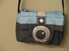 Retro Style Camera Bag or Purse by AijoEcoTotes on Etsy, $24.99