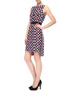 Milly Pink Sheath Print Dress £154!
