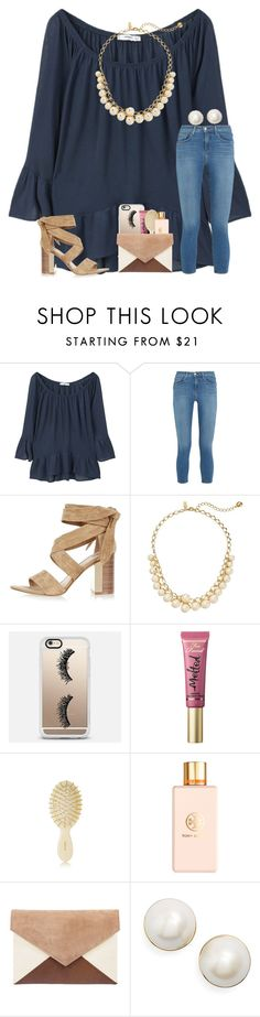 """QOTD in the Description:)"" by kari-luvs-u-2 ❤ liked on Polyvore featuring MANGO, L'Agence, River Island, Kate Spade, Casetify, Too Faced Cosmetics, AERIN and Tory Burch"