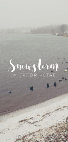 Snowstorm in Fredrikstad, Norway | TheWandereuse.com