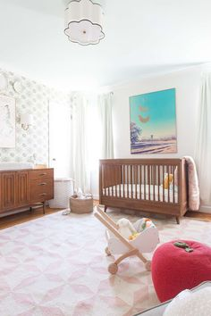 bright and light baby room