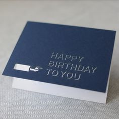 happy birthday to you // vintage inspired laser-cut retro hand card