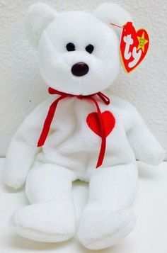 Ty Valentino Beanie Baby ERROR Suface and Origiinal on Hang Tag RARE #Ty