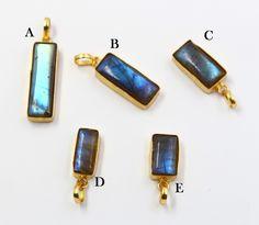 36mm 2pcs Lapis Lazuli Oblong Pendant Bead Set Pendant Bead DIY Jewelry Making Jasper Pendant Wire Wrapping Pendant Pendants
