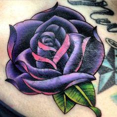 purple rose tattoo | Tumblr