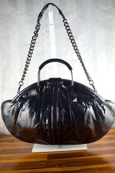 614da7056015 Designer Rafe New York bag  Genuine snakeskin by VintageZenny