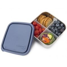 U Konserve - Ocean Divided To-Go Container Medium 32oz Bento Box Traditional, Stainless Steel Lunch Containers, Food Storage Containers, Plastic Containers, Salad Bar, Food Grade, Divider, Lunch Box, Medium