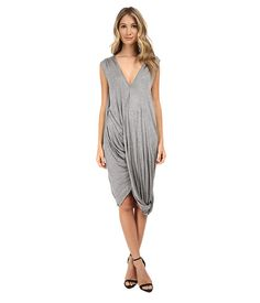 Culture Phit Mollie V-Neck Dress Heather Grey - 6pm.com