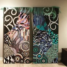 Glass mosaic art made by Allison Eden Studios email: Mosaicdesigner@aol.com for inquiries  Www.AllisonEden.com or follow in Instagram @AllisonEdenStudios Tel: 212-643-2426