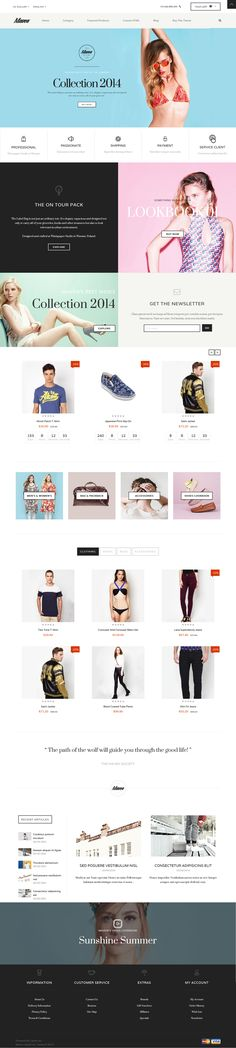 Maven combines a series of beautiful design elements into an entirely new fashion OpenCart template and closures provide the perfect finishing touch.