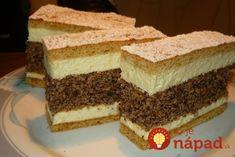 Ez nekem is tutira a kedvenceim közé kerülne! Hungarian Desserts, Hungarian Cake, Hungarian Recipes, Sweet Cookies, Cake Cookies, Sweet Recipes, Cake Recipes, Poppy Cake, No Bake Cake